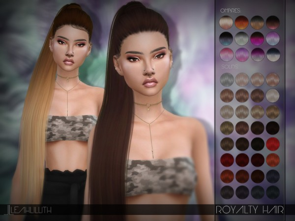 The Sims Resource: Royalty Hair by LeahLillith for Sims 4