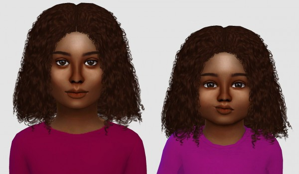 Simiracle: Alessia, Luna and Kai hairs retextured for Sims 4