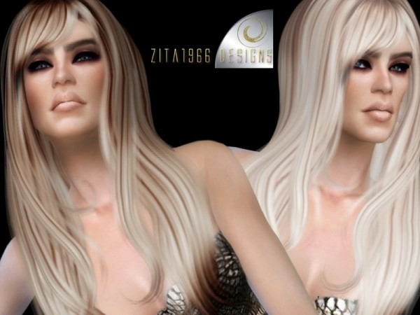 The Sims Resource: Friday Girl Highlights hair retextured by ZitaRossouw for Sims 4