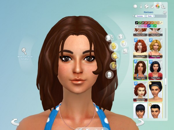 Mystufforigin: Madelyn Hair retextured for Sims 4