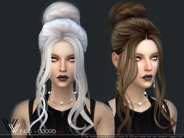 The Sims Resource: WINGS OS0915 hair for Sims 4