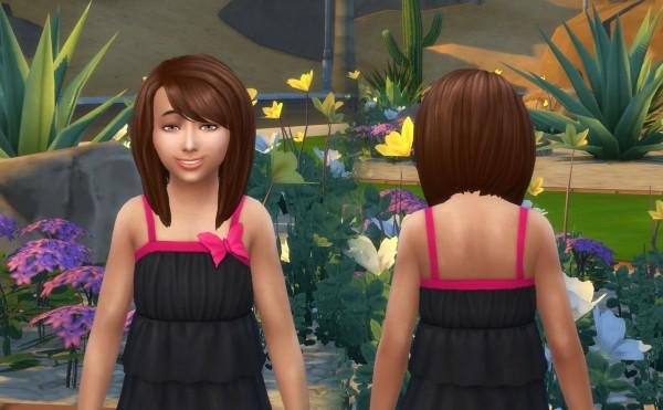Mystufforigin: Ellie Hair for Girls for Sims 4