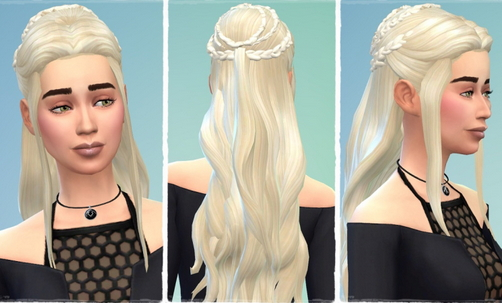 Birksches sims blog: Version Daenerys Hair for Sims 4