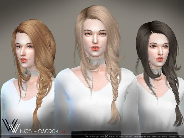 The Sims Resource: WINGS OS0904 hair for Sims 4
