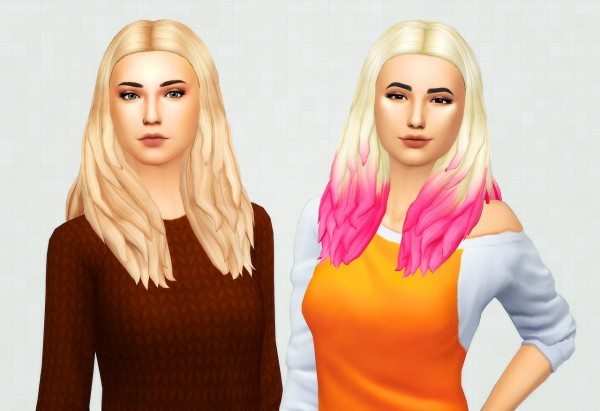 Kot Cat: Angela hair recolored for Sims 4