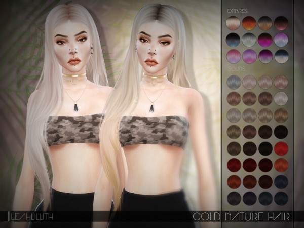 The Sims Resource: Cold Nature Hair by LeahLillith for Sims 4