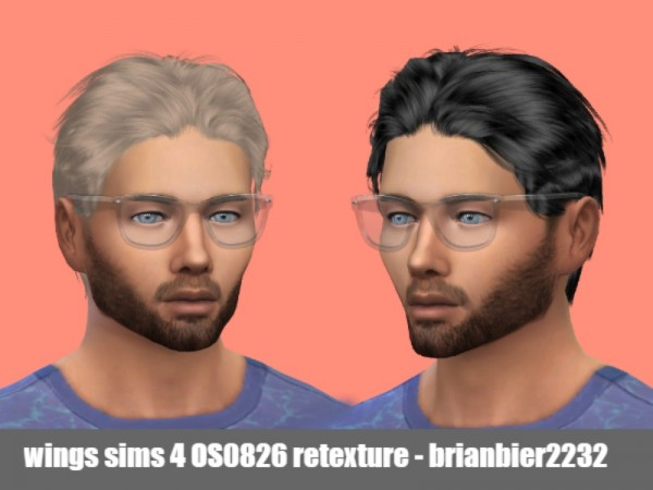 The Sims Resource: Wings OS0826 hair retextured by brian.bier for Sims 4