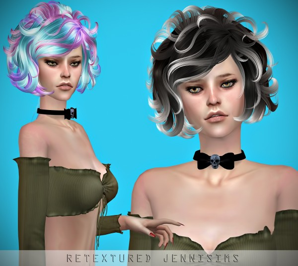 Jenni Sims: Newsea`s ​Masquerade hair retextured for Sims 4
