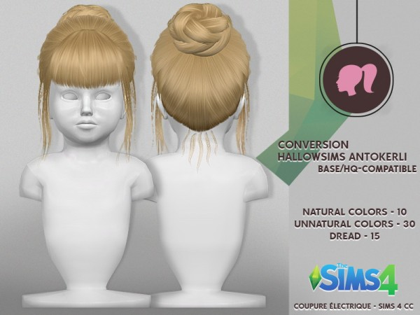 Coupure Electrique: Anto`s Kerly hair retextured for Sims 4