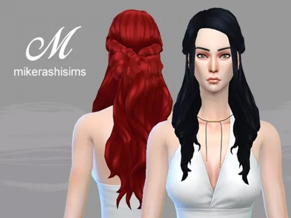 Mikerashi: Blizzard Hair retextured for Sims 4