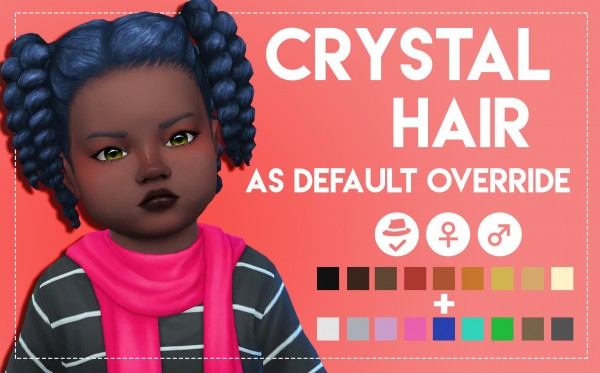 Simsworkshop: Crystal Hair retextured by Weepingsimmer for Sims 4