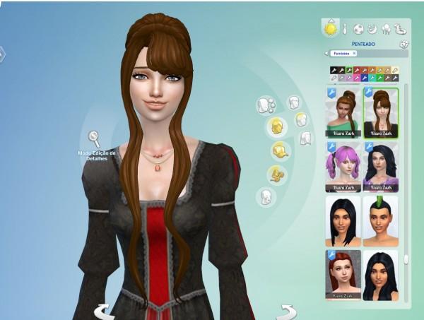 Mystufforigin: Beatrix hair retextured for Sims 4