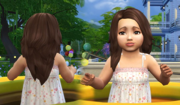 Mystufforigin: Autumn Hair for Toddlers for Sims 4