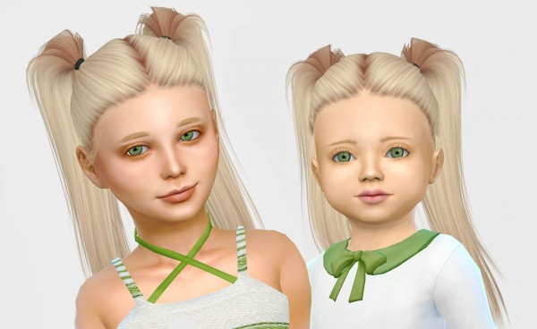 Simiracle: LeahLillith`s Bling Pushed Back hair retextured for Sims 4