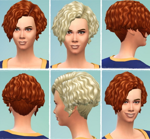 Birksches sims blog: Early Curls hair for Sims 4