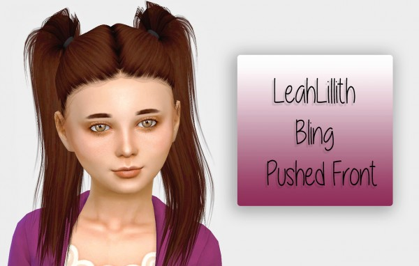 Simiracle: LeahLillith`s Bling Pushed Front hair retextured for Sims 4