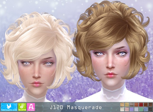 NewSea: J120 Masquerade hair for Sims 4