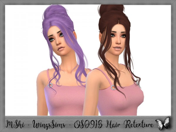 The Sims Resource: WingsSims   OS0915 Hair Retextured by Mikerashi for Sims 4