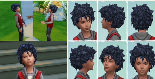 Birksches sims blog: Many Tight Curls hair for Sims 4