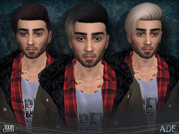 The Sims Resource: Zayn hair by Ade Darma for Sims 4