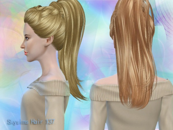 Butterflysims: Hair 137 by Skysims for Sims 4
