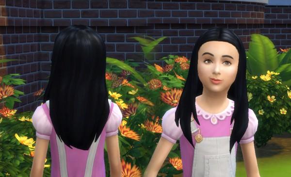 Mystufforigin: Rebecca Hair for Girls for Sims 4