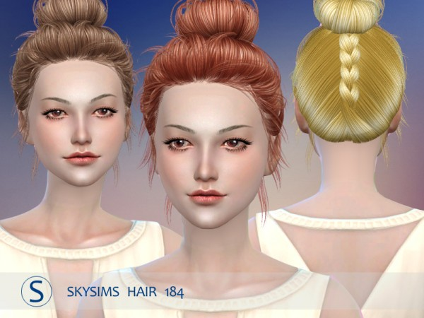 Butterflysims: Hair 184 by Skysims for Sims 4