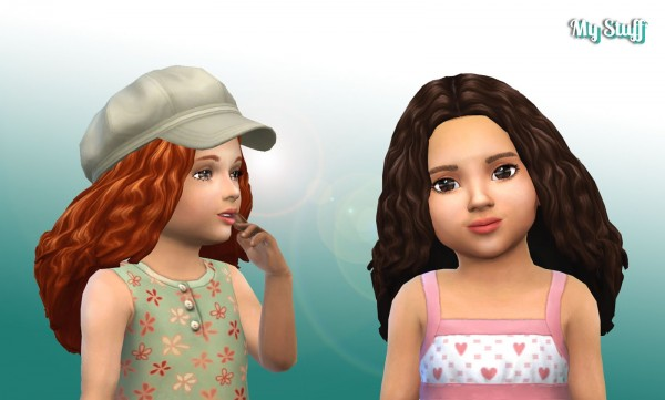 Mystufforigin: Long Twists for Toddlers for Sims 4