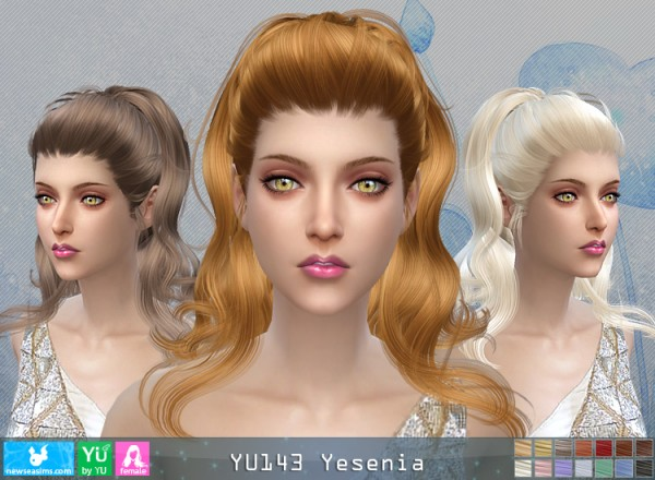 NewSea: Yu143 Yesenia hair for Sims 4