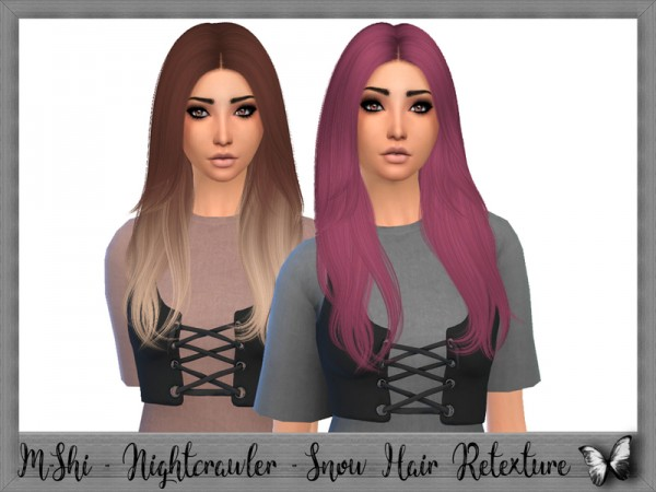 The Sims Resource: Nightcrawler`s Snow hair retextured by Mikerashi for Sims 4