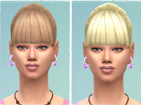 Birksches sims blog: Ponytail Straight Bangs Edit for Sims 4
