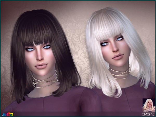 The Sims Resource: Sirens Hair by Anto for Sims 4