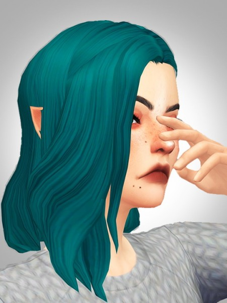 Kismet Sims: Honeymoon hair for Sims 4