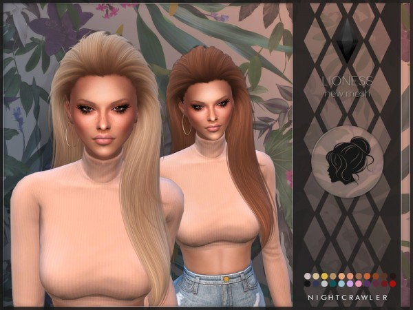 The Sims Resource: Lioness hair by Nightcrawler for Sims 4
