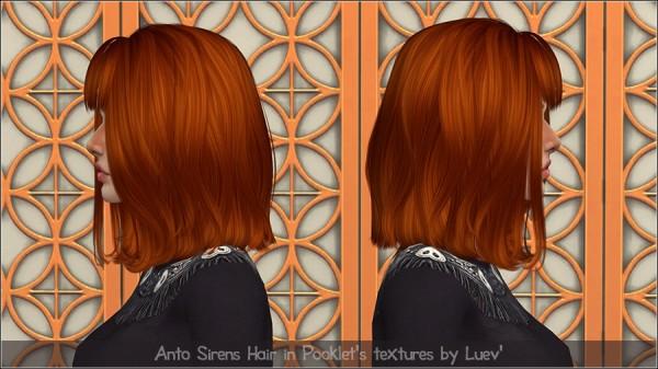 Mertiuza: Anto`s Sirens hair retextured for Sims 4