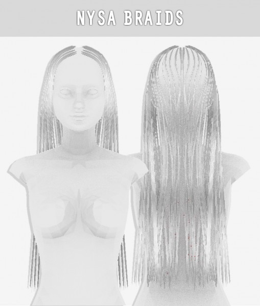 Arthurlumierecc: Nysa braids hair for Sims 4