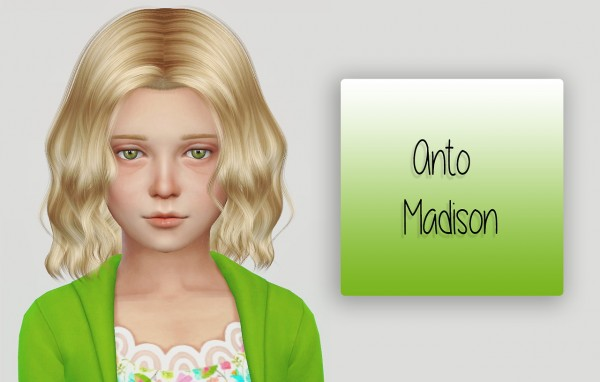 Simiracle: Anto`s Madison hairstyle retextured for Sims 4