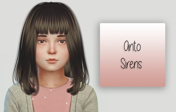Simiracle: Anto`s Sirens hair retextured for girls for Sims 4