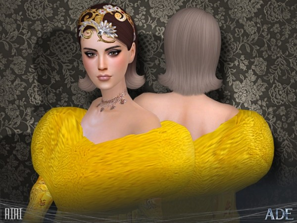 The Sims 4 Xelenn: Riri hair by Ade Darma for Sims 4