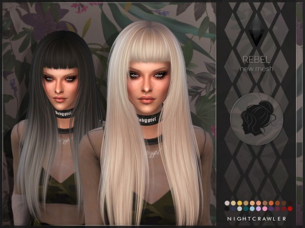 The Sims Resource: Rebel hair by Nightcrawler Sims for Sims 4