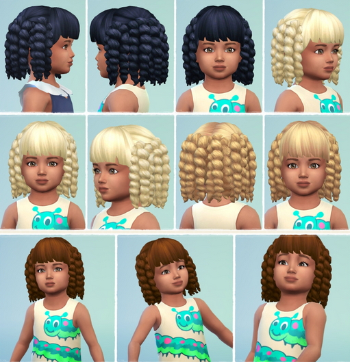 Birksches sims blog: Toddler's Schillerlocken hair retextured for Sims 4