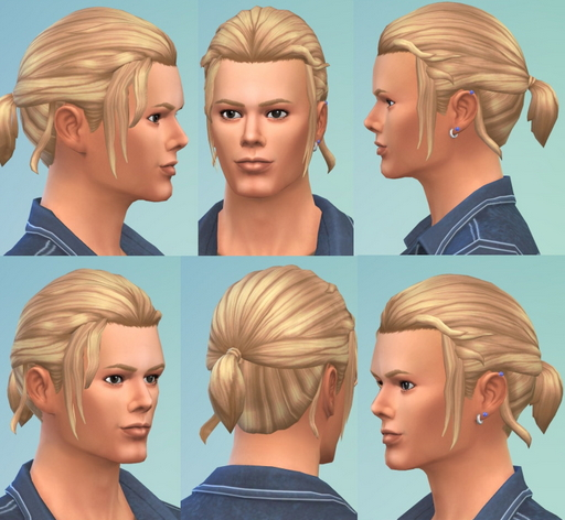 Birksches sims blog: Marvin's Small Pony hair for Sims 4