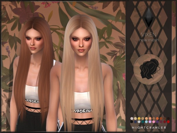 The Sims Resource: Vixen hair by Nightcrawler for Sims 4