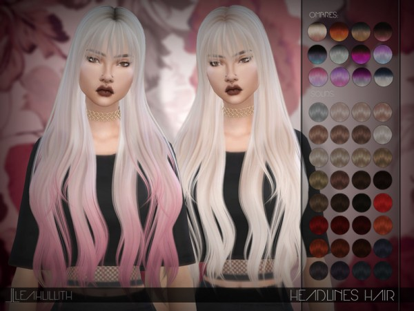 The Sims Resource: Headlines Hair by LeahLillith for Sims 4