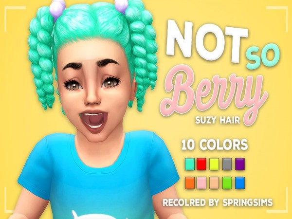 The Sims Resource: Suzy Hair recolored by SpringSims1 for Sims 4