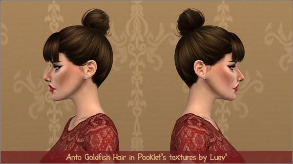 Mertiuza: Anto`s Goldfish hair retextured for Sims 4