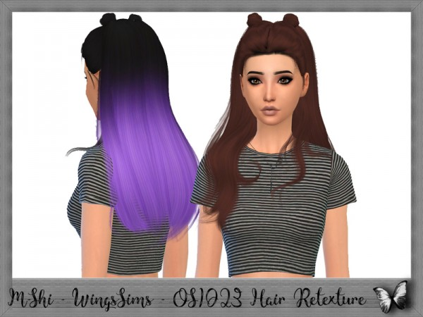 The Sims Resource: WingsSims   OS1023 Hair Retextured by mikerashi for Sims 4