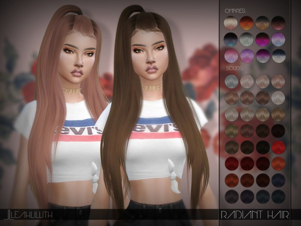 The Sims Resource: Radiant Hair by LeahLillith for Sims 4