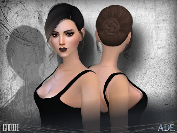 The Sims Resource: Gabbie hair by Ade Darma for Sims 4