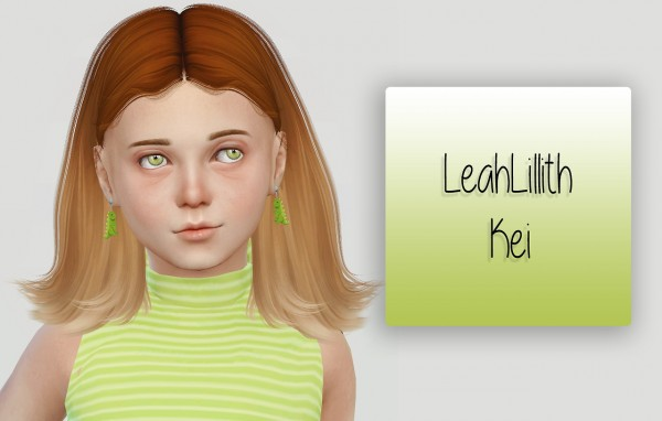 Simiracle: LeahLillith`s Kei hair retextured for girls for Sims 4